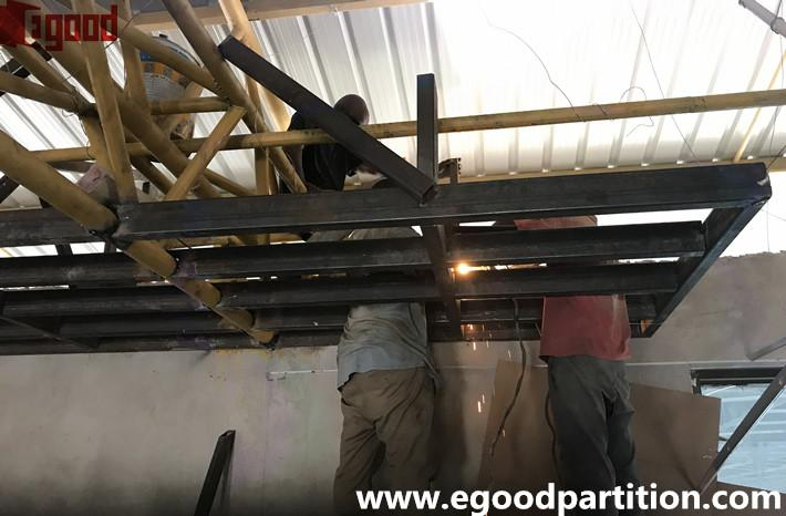 suspension steel structure supports installation