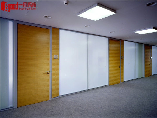 Fixed office partition panel wall