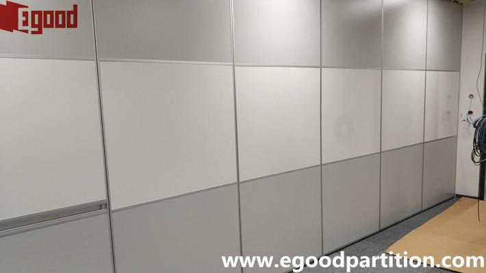 School classroom white board operable partition door