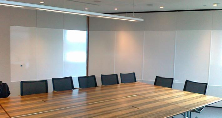The whiteboard operable partition finishing china egood for Movable walls room partitions