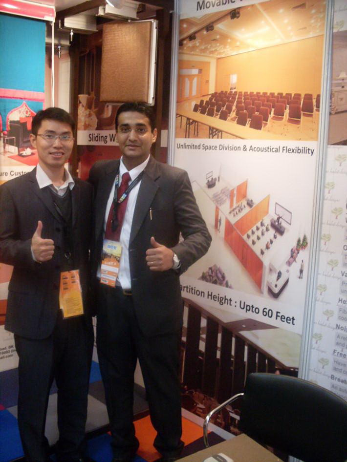 Client from india in ACE Tech 2011 exhibition fair